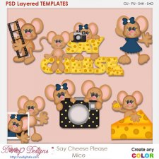 Say Cheese Please Mice Layered Element Templates