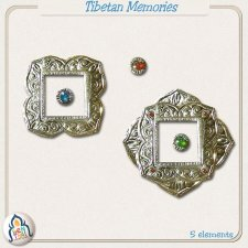 Tibetan Memories Embellishments by Benthaicreations