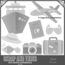 Summer Templates 6 CU4CU by Scrap and Tubes