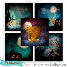 Scenic Papers 22 Halloween by Kastagnette