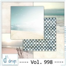 Vol. 996 to 000 Beach Papers by Doudou Design
