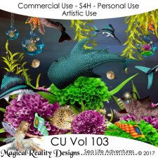 Sea Life Adventures - CU Vol 103 by MagicalReality Designs