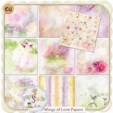 Wings of Love Paper Pack EXCLUSIVE by PapierStudio Silke