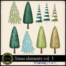 Christmas vol. 3 elements CU4CU by Happy Scrap Art