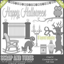 Halloween Templates 2 CU4CU by Scrap and Tubes