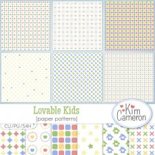 Lovable Kids Pattern Template by Kim Cameron