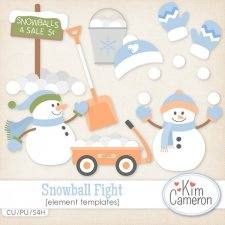 Snowball Fight Templates by Kim Cameron