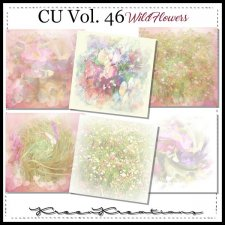 CU Vol. 46 Papers Pack Wild Flowers by Kreen Kreations