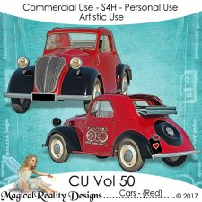 Cars {Red} - CU Vol 50 by MagicalReality Designs