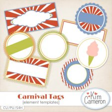 Carnival Tags Templates by Kim Cameron
