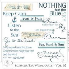 Summer/Sea Word Arts Vol 02 by D's Design