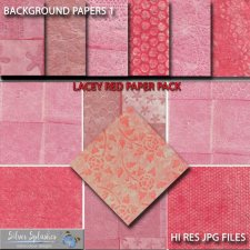 EXCLUSIVE Lacey Red Papers by Silver Splashes