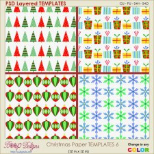 Christmas Paper Layered TEMPLATES 6