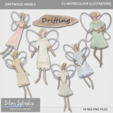 EXCLUSIVE Driftwood Angels Watercolour by Silver Splashes