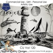 Brush Set And Overlays - CU Vol 120 by MagicalReality Designs