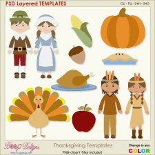 Thanksgiving Layered Element TEMPLATES