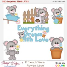 If Friends Were Flowers Mice Layered Element Templates