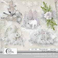 Christmas embellishments - CU 4 by Cajoline-Scrap