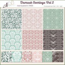 Damask Overlays Vol 2 by ADB Designs