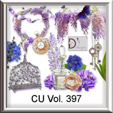 Vol. 397 Vintage Wisteria Mix by Doudou Design