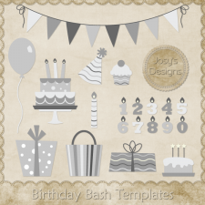 Birthday Bash Layered Templates 1 by Josy