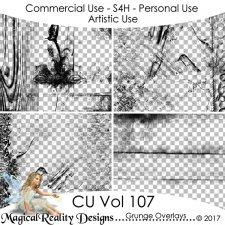 Grunge Overlays - CU Vol 107 by MagicalReality Designs