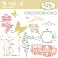 Vintage floral Photoshop brushes Lilmade Designs