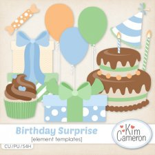 Birthday Surprise Templates by Kim Cameron