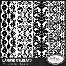 Damask paper overlays Lilmade Designs
