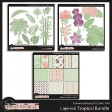 EXCLUSIVE Layered Tropical Templates BUNDLE by NewE Designz