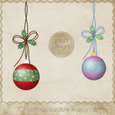 Christmas Baubles Photoshop Action 3 by Josy