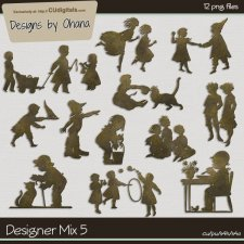 CU Mix 5 - Child Silhouette - EXCLUSIVE Designs by Ohana