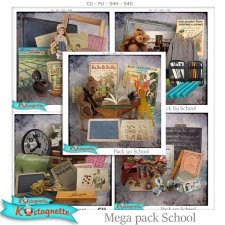 Mega pack School by Kastagnette