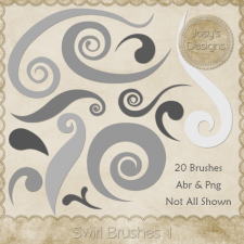 Swirl Brushes 1 - CU4CU by Josy
