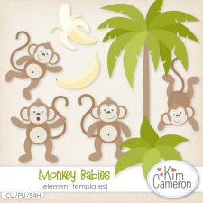 Monkey Babies Templates by Kim Cameron