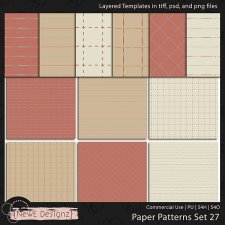 EXCLUSIVE Layered Paper Patterns Templates Set 27 by NewE Designz