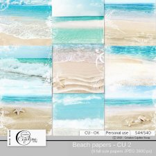 Beach papers 2 by Cajoline-Scrap