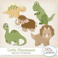 Little Dinosaurs Templates by Kim Cameron