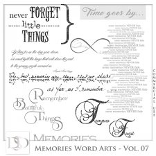 Memories Word Arts Vol 07 by D's Design