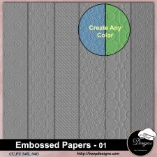 Embossed Pattern PAPERS 01 by Boop Designs
