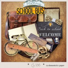 Cu set 156 Back to School vintage by MLDesign