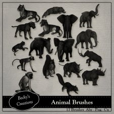 Animal Brushes ABR - PNG by Beckys Creations