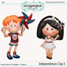 Independence Day 2 Templates and Clipart by ScrapingMar