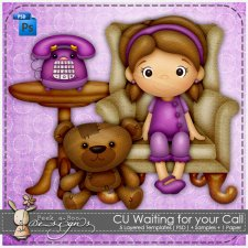 Waiting for your Call Layered Template by Peek a Boo Designs