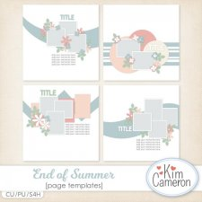 End of Summer Page Templates by Kim Cameron