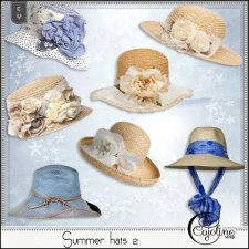 Summer hats 2 by Cajoline-Scrap