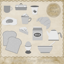 Breakfast Time Layered Templates by Josy