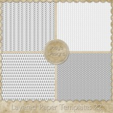 Layered Paper Templates 22 by Josy