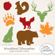 Woodland Silhouettes by Kim Cameron