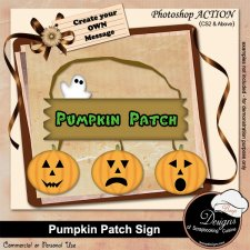 Pumpkin Patch Sign by ACTION Boop Designs